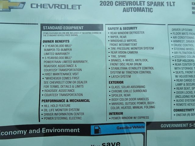 2020 Chevrolet Spark LT Madison, NC 42