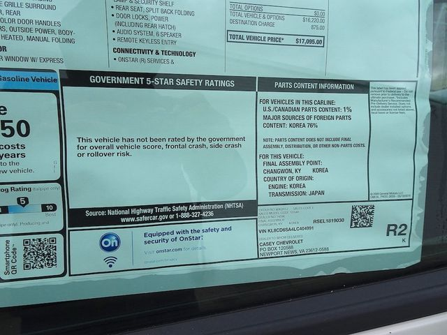 2020 Chevrolet Spark LT Madison, NC 47