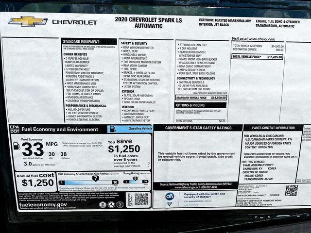 2020 Chevrolet Spark LS Madison, NC 9