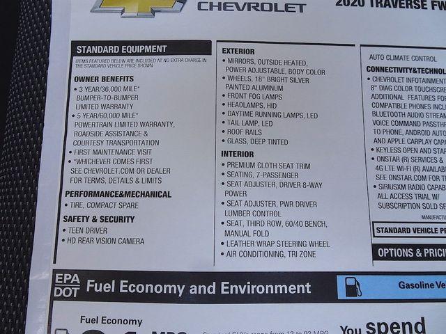 2020 Chevrolet Traverse LT Cloth Madison, NC 51