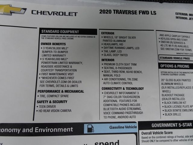 2020 Chevrolet Traverse LS Madison, NC 49