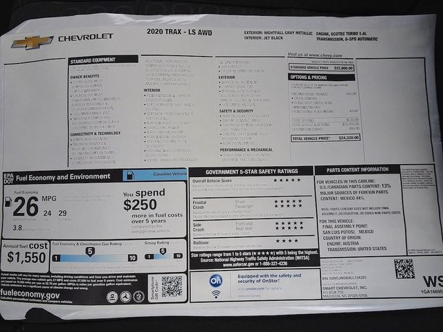 2020 Chevrolet Trax LS Madison, NC 40