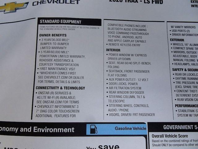 2020 Chevrolet Trax LS Madison, NC 43