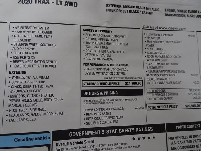 2020 Chevrolet Trax LT Madison, NC 45