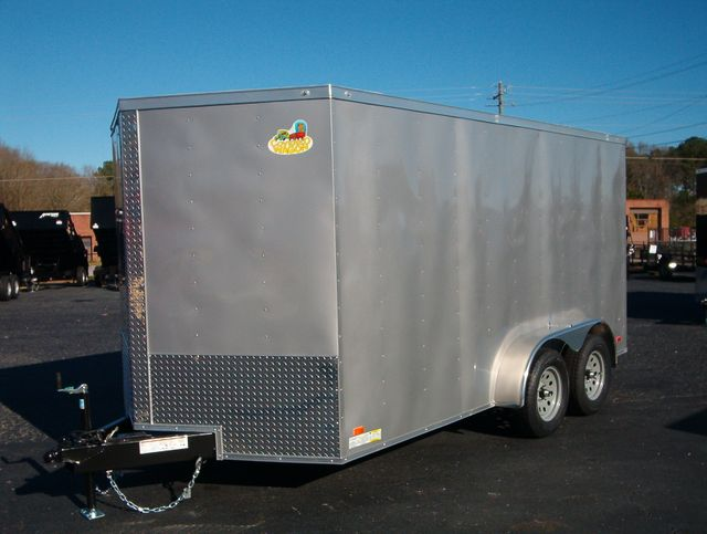 """2020 Covered Wagon Enclosed 7x14 6' 3"""" Interior Height in Madison, Georgia 30650"""