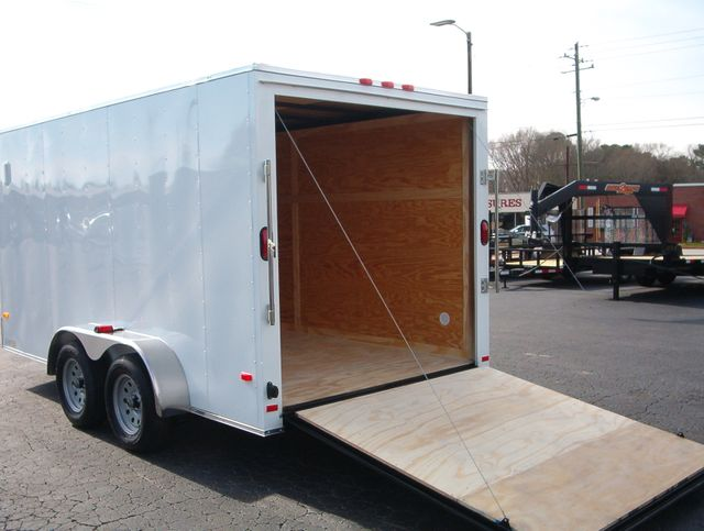 """2020 Covered Wagon Enclosed 7x14 6' 6"""" Interior Height in Madison, Georgia 30650"""