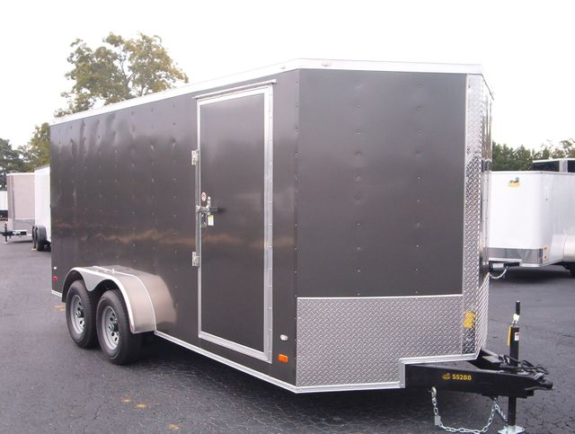 "2020 Covered Wagon Enclosed 7x16 5 Ton 6'6"" Interior Height"