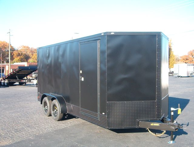 "2020 Covered Wagon Enclosed 7x16 6'6"" Blackout in Madison, Georgia 30650"