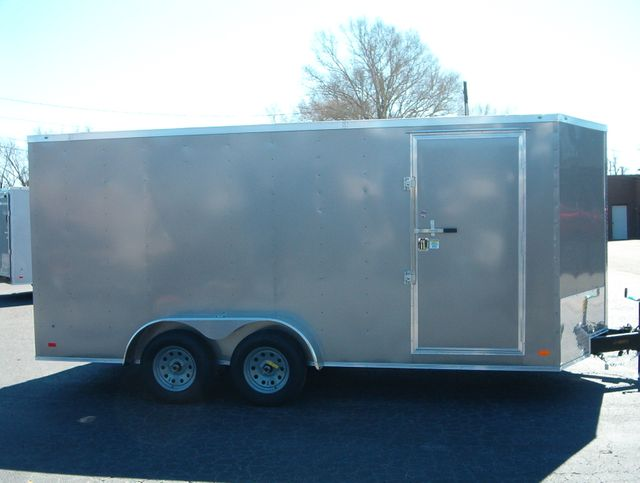 """2020 Covered Wagon Enclosed 7x16 6' 6"""" Interior Height in Madison, Georgia 30650"""