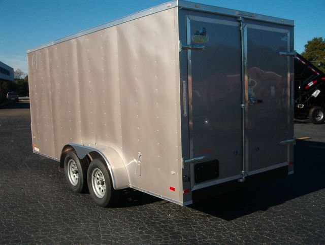 """2020 Covered Wagon Enclosed 7x16 Barn Doors 6'6"""" Interior Height in Madison, Georgia 30650"""