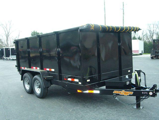 2020 Dump Trailer Down To Earth Dump 7x14 7 Ton 4ft Sides in Madison, Georgia 30650