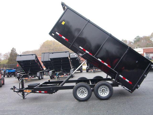 2021 Dump Trailer Down To Earth Dump 7x14 7 Ton 4ft Sides