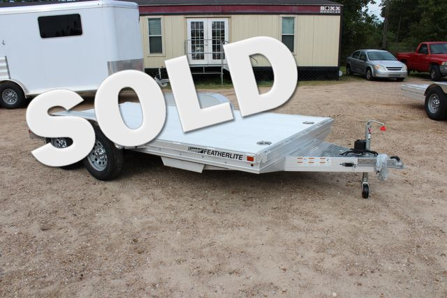 2020 Featherlite 3110 Flat Bed 14' Open Car Trailer with Raised Deck CONROE, TX 0