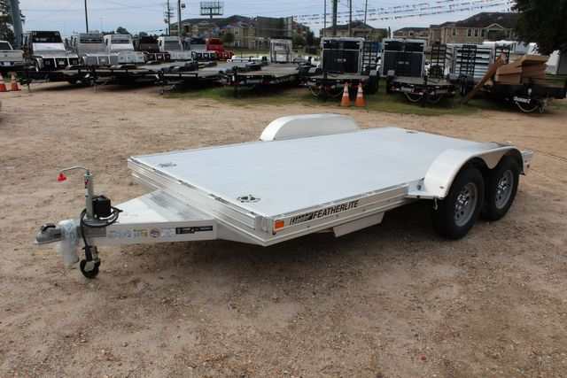 2020 Featherlite 3110 Flat Bed 14' Open Car Trailer with Raised Deck CONROE, TX 6