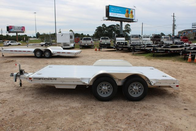 2020 Featherlite 3110 Flat Bed 14' Open Car Trailer with Raised Deck CONROE, TX 7
