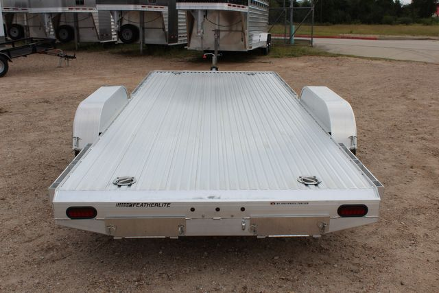 "2020 Featherlite 3110 - 17' CAR HAULER 17'6"" RAISED DECK - RUB RAILS & STAKES CONROE, TX 12"