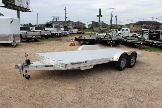 "2020 Featherlite 3110 - 17' CAR HAULER 17'6"" RAISED DECK - RUB RAILS & STAKES CONROE, TX 8"