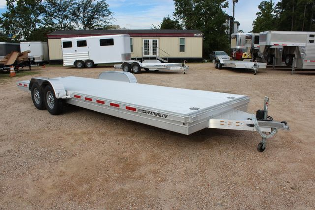 2020 Featherlite 3110 - 24' Flat Bed 24' RAISED DECK Car Trailer RUB RAILS CONROE, TX 0