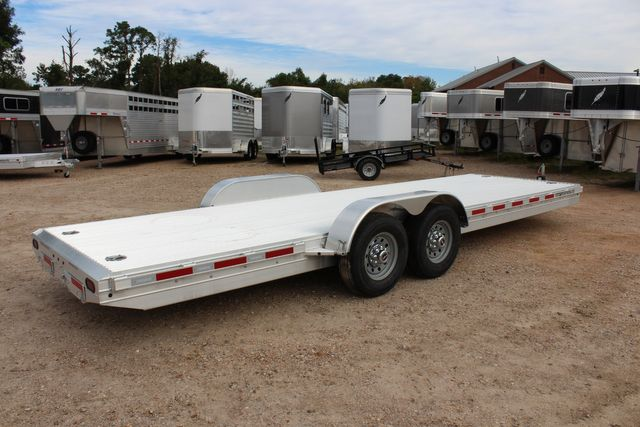 2020 Featherlite 3110 - 24' Flat Bed 24' RAISED DECK Car Trailer RUB RAILS CONROE, TX 19