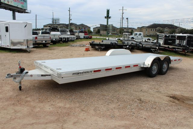 2020 Featherlite 3110 - 24' Flat Bed 24' RAISED DECK Car Trailer RUB RAILS CONROE, TX 9