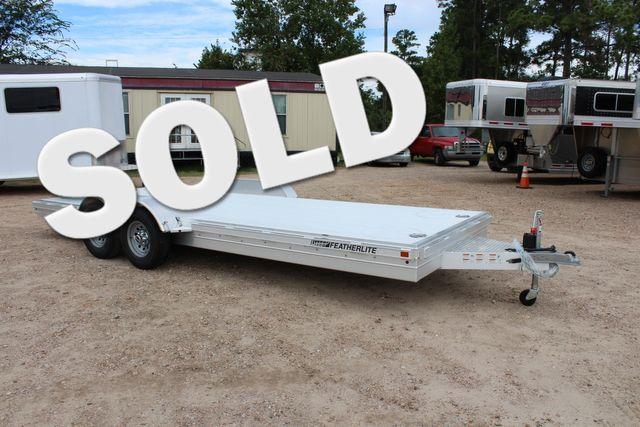 2020 Featherlite 3110 20' FLATBED OPEN CAR TRAILER RAISED DECK RUB RAILS CONROE, TX