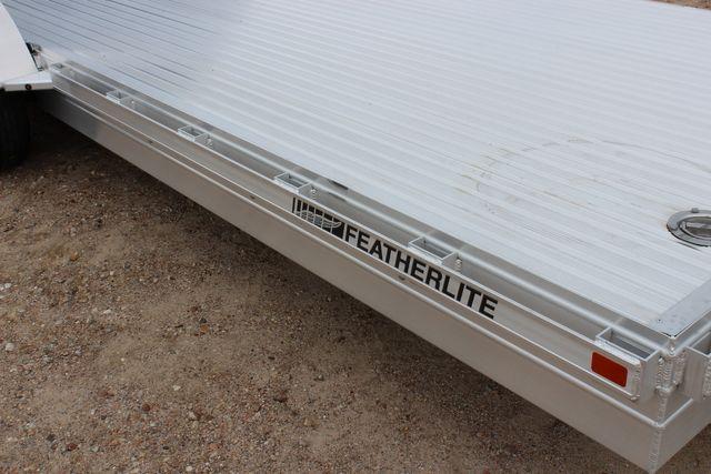 2020 Featherlite 3110 20' FLATBED OPEN CAR TRAILER RAISED DECK RUB RAILS CONROE, TX 1