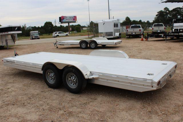 2020 Featherlite 3110 20' FLATBED OPEN CAR TRAILER RAISED DECK RUB RAILS CONROE, TX 10