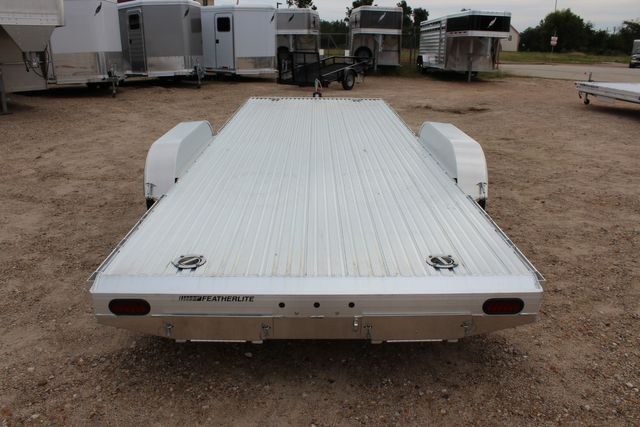 2020 Featherlite 3110 20' FLATBED OPEN CAR TRAILER RAISED DECK RUB RAILS CONROE, TX 12