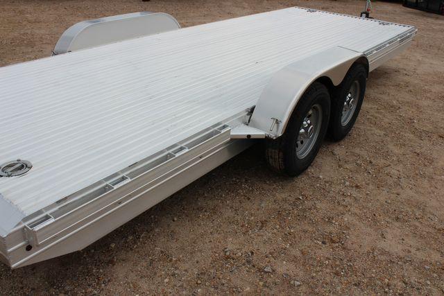 2020 Featherlite 3110 20' FLATBED OPEN CAR TRAILER RAISED DECK RUB RAILS CONROE, TX 14