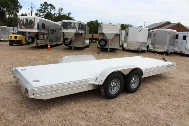 2020 Featherlite 3110 20' FLATBED OPEN CAR TRAILER RAISED DECK RUB RAILS CONROE, TX 15