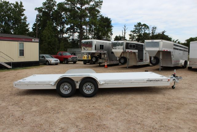 2020 Featherlite 3110 20' FLATBED OPEN CAR TRAILER RAISED DECK RUB RAILS CONROE, TX 16