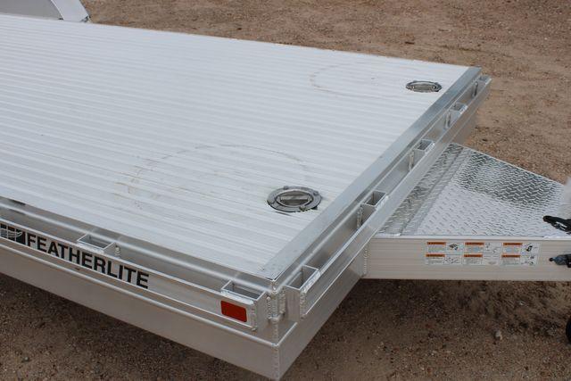2020 Featherlite 3110 20' FLATBED OPEN CAR TRAILER RAISED DECK RUB RAILS CONROE, TX 2