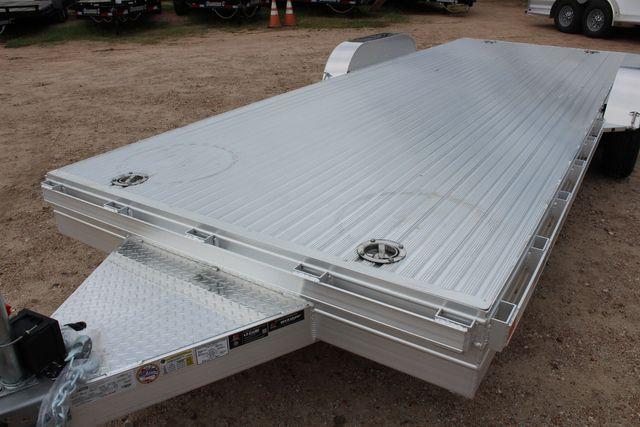 2020 Featherlite 3110 20' FLATBED OPEN CAR TRAILER RAISED DECK RUB RAILS CONROE, TX 5