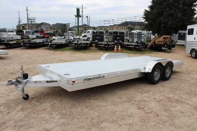 2020 Featherlite 3110 20' FLATBED OPEN CAR TRAILER RAISED DECK RUB RAILS CONROE, TX 8