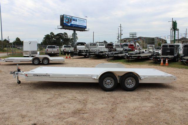 2020 Featherlite 3110 20' FLATBED OPEN CAR TRAILER RAISED DECK RUB RAILS CONROE, TX 9