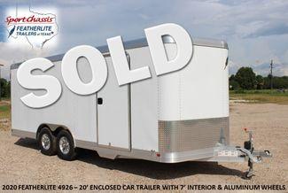 2020 Featherlite 4926 - 20 20' ENCLOSED CAR HAULER CONROE, TX