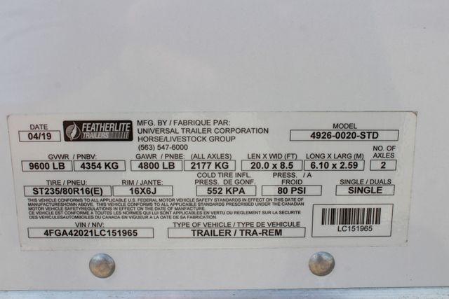 2020 Featherlite 4926 - 20 20' ENCLOSED CAR HAULER CONROE, TX 31