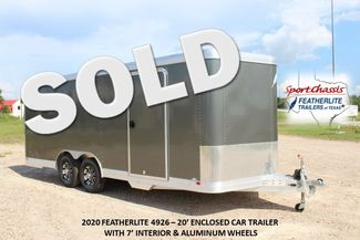 2020 Featherlite 4926 20' ENCLOSED CAR HAULER CONROE, TX