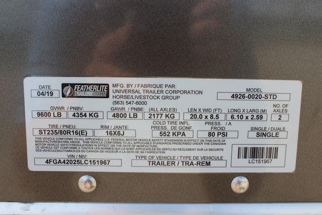 2020 Featherlite 4926 20' ENCLOSED CAR HAULER CONROE, TX 35