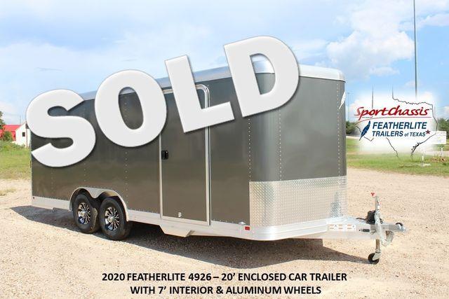 2020 Featherlite 4926 20' ENCLOSED CAR HAULER CONROE, TX 0