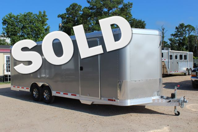 2020 Featherlite 4926 24' ENCLOSED BUMPER PULL CAR TRAILER 8.5' WIDE 7'T CONROE, TX