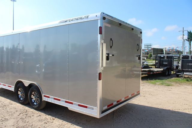 2020 Featherlite 4926 24' ENCLOSED BUMPER PULL CAR TRAILER 8.5' WIDE 7'T CONROE, TX 11