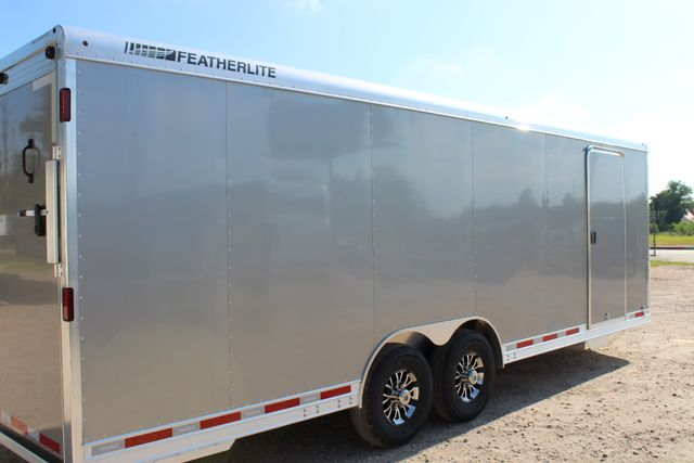 2020 Featherlite 4926 24' ENCLOSED BUMPER PULL CAR TRAILER 8.5' WIDE 7'T CONROE, TX 20