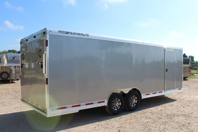 2020 Featherlite 4926 24' ENCLOSED BUMPER PULL CAR TRAILER 8.5' WIDE 7'T CONROE, TX 21