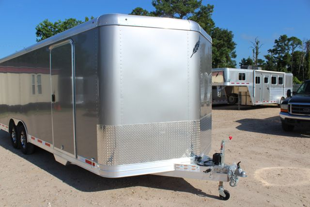 2020 Featherlite 4926 24' ENCLOSED BUMPER PULL CAR TRAILER 8.5' WIDE 7'T CONROE, TX 2