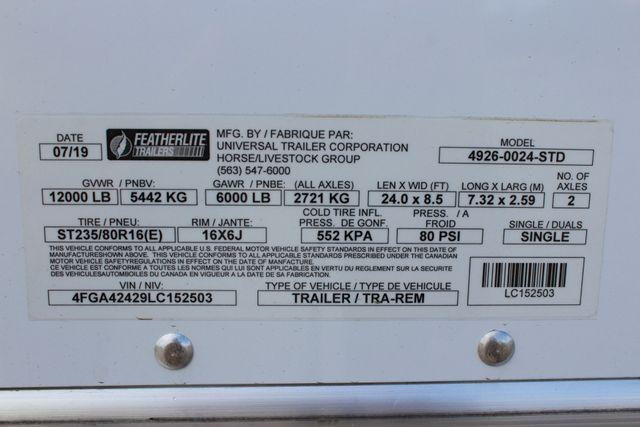 2020 Featherlite 4926 24' BUMPER PULL ENCLOSED CAR HAULER CONROE, TX 27