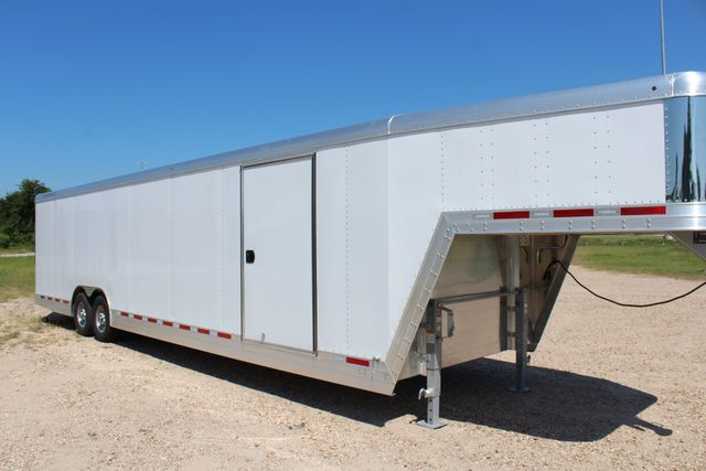 2020 Featherlite 4941 - 32 32' ENCLOSED GOOSE NECK CAR HAULER CONROE, TX 1