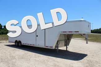 2020 Featherlite 4941 28' ENCLOSED CAR HAULER GOOSE NECK PKG 7' TALL CONROE, TX