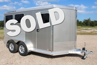 "2020 Featherlite 7441 - 2 HORSE TWO HORSE - BUMPER PULL - 24"" DRESSING ROOM - 7' W CONROE, TX"