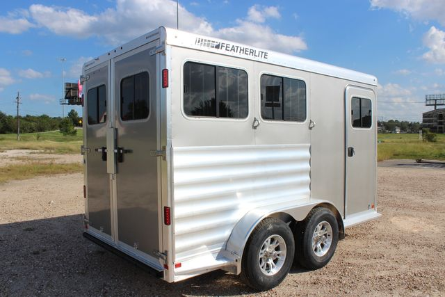 "2020 Featherlite 7441 - 2 HORSE TWO HORSE - BUMPER PULL - 24"" DRESSING ROOM - 7' W CONROE, TX 22"